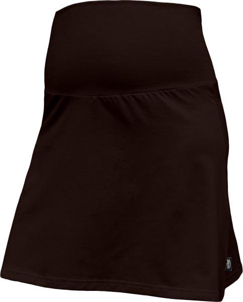 Letní těhotenská sukně Jolana - Áčkový střih, tm. hnědá
