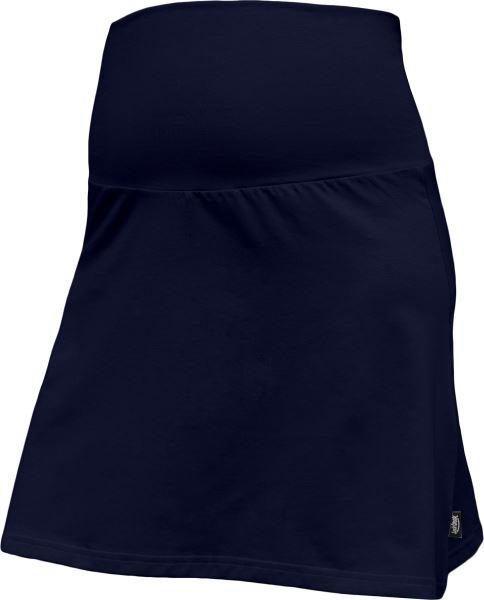 Letní těhotenská sukně Jolana - Áčkový střih, tm. modrá