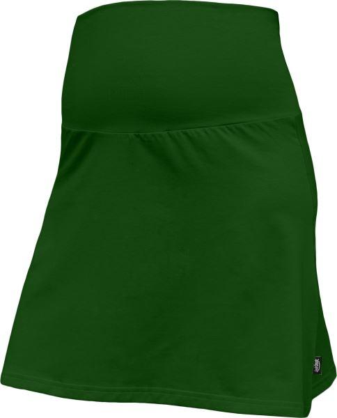 Letní těhotenská sukně Jolana - Áčkový střih, tm. zelená, vel. L/XL