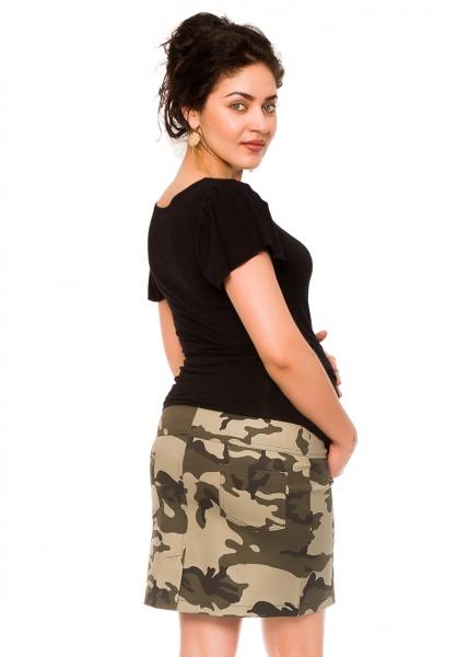 Be MaaMaa Těhotenská sukně Camo - maskáčová, vel. L