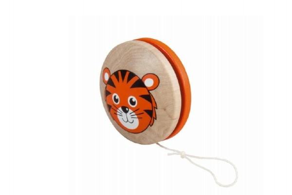 Jojo oranžové tygr dřevo 6cm v sáčku
