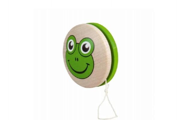 Jojo zelené žabka dřevo 6cm v sáčku