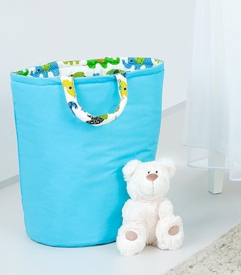 Mamo Tato Box na hračky - oboustranný, modrá / zelený slon
