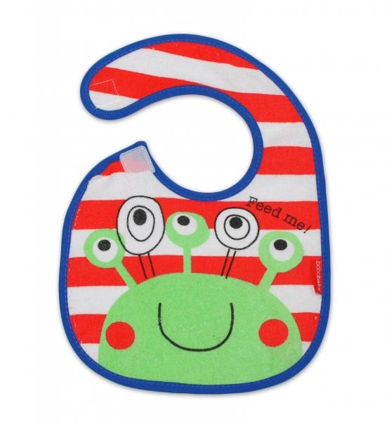 BOBO BABY Dvouvrstvý froté bryndáček - krab
