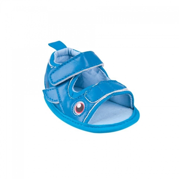 Capáčky, sandálky Fish - tm. modré, 6-12 m