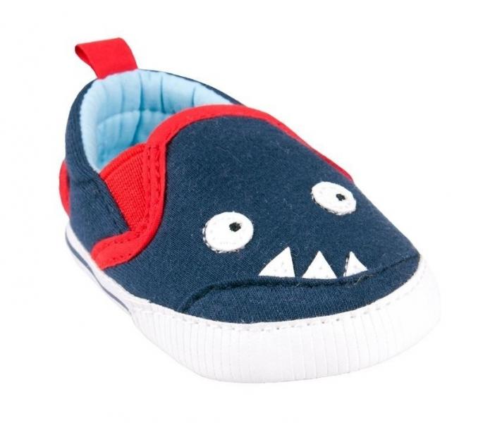 Capáčky, tenisky Monster -  tm. modré, 6-12 m, Velikost: 6/12měsíců