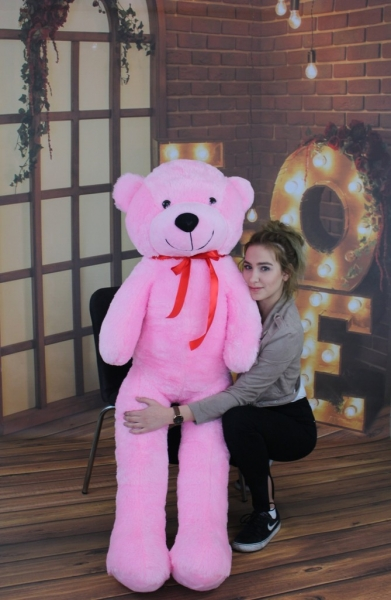 Plyšový medvěd 160cm - růžový