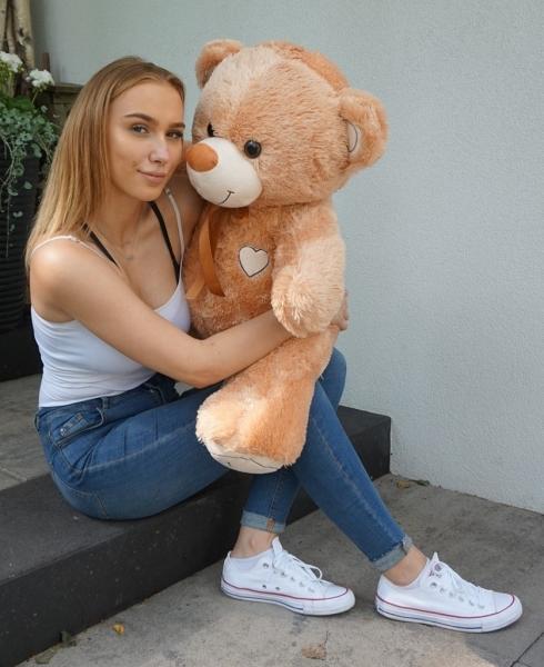 Plyšový medvěd 120cm - béžový