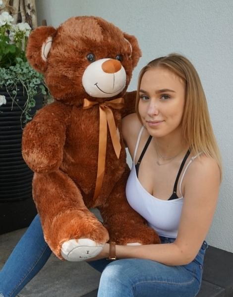 Plyšový medvěd 120cm - čokoládový