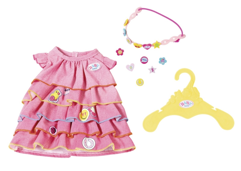 BABY born Letní šatičky s barevnou čelenkou