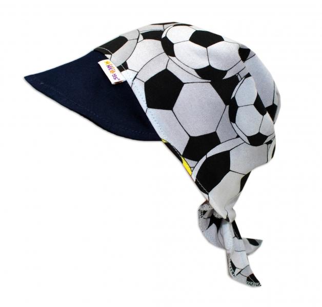 Baby Nellys Šátek na zavazování s kšiltem, vel. 46-48 - Fotbal