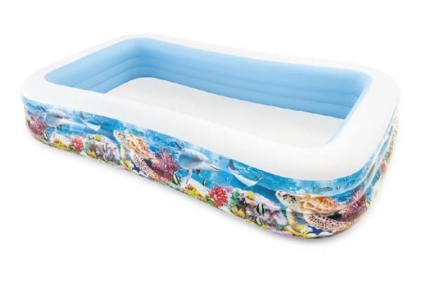 Bazén obdélník mořský svět nafukovací 305x183x56cm