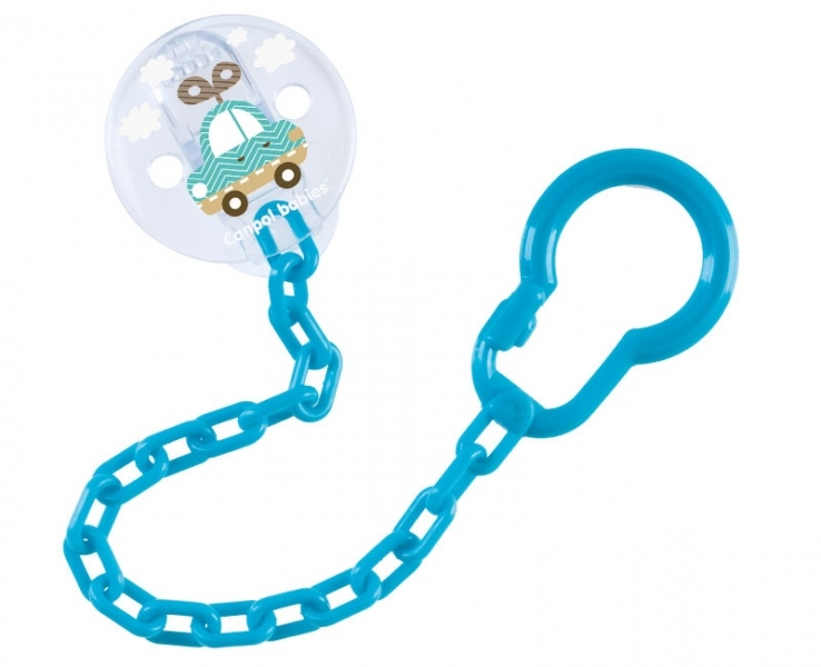 Canpol babies Řetízek na dudlík  Toys - tyrkysový