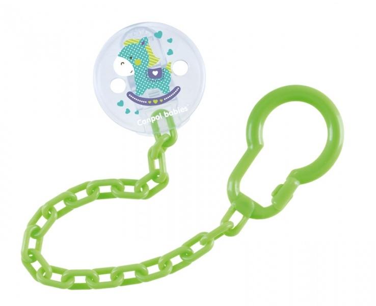 Canpol babies Řetízek na dudlík  Toys - zelený