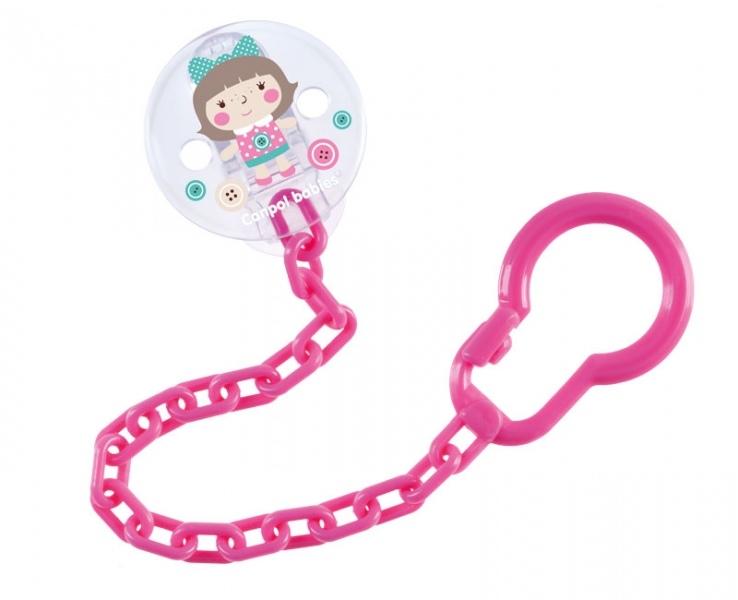 Canpol babies Řetízek na dudlík  Toys - růžový