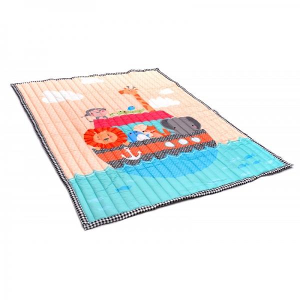 Koberec - hrací deka - Zvířatka na lodi