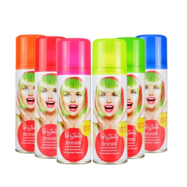 Sprej na vlasy barevný fluoreskující 6 barev