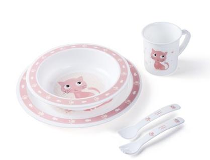 Canpol babies Plastová sada nádobí Cute Animals - Kočička