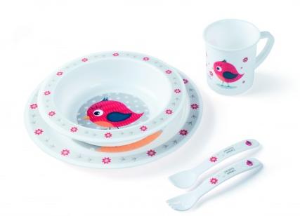 Plastová sada nádobí Cute Animals - Ptáček