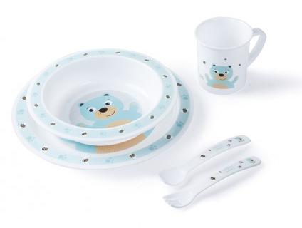 Plastová sada nádobí Cute Animals - Medvídek