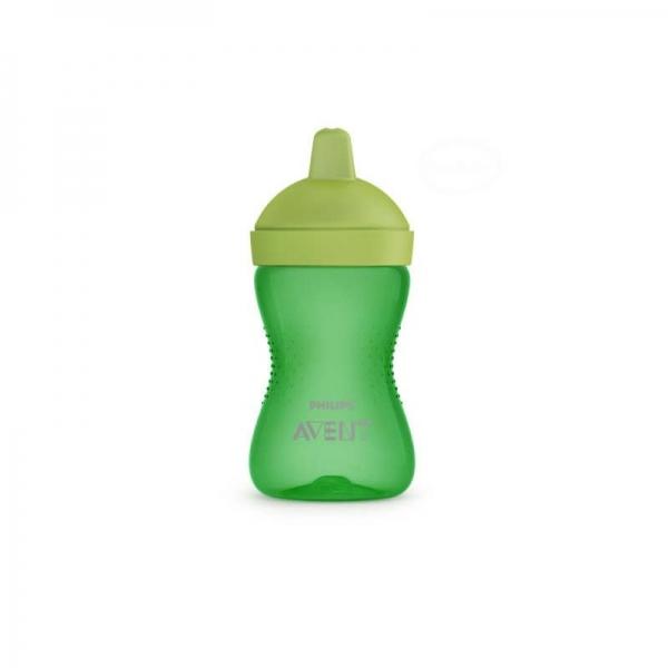 AVENT Netekoucí hrneček 300 ml, tvrdá hubička -  zelená