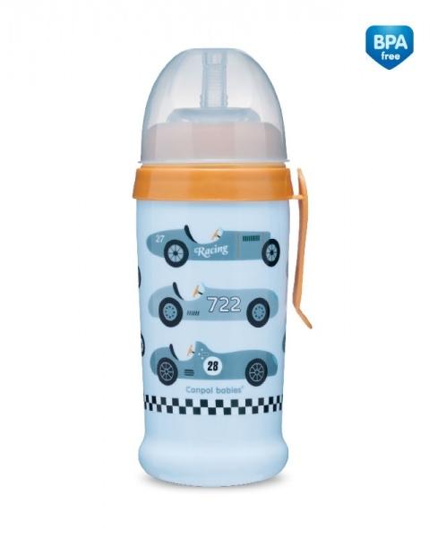 Sportovní nekapající láhev Racing - sv. modrá