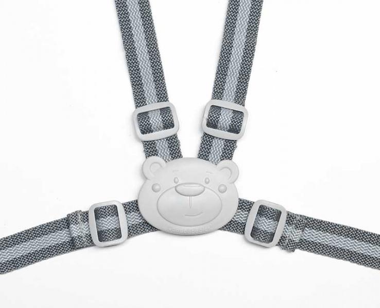 Canpol babies Bezpečnostní řemínky/kšíry do kočárku - šedé