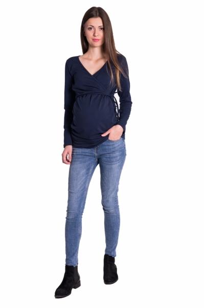 Be MaaMaa Zavinovací těhotenské triko/tunika - granát, vel. XXL, Velikost: XXL (44)
