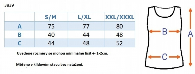 Be MaaMaa Top/tílko nejen pro těhotné - tm. modré, vel. L/XL