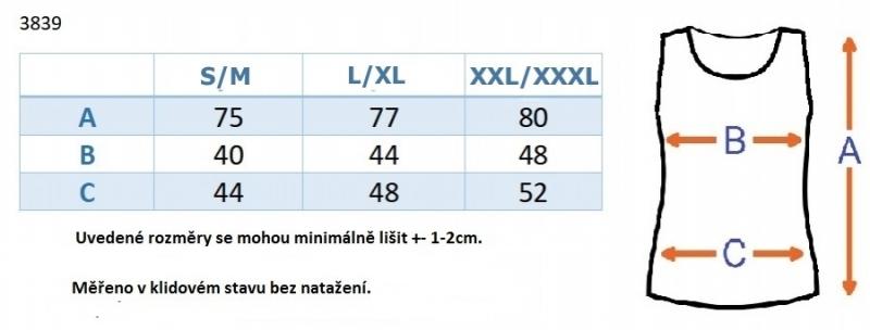 Be MaaMaa Top/tílko nejen pro těhotné - sv. modré, vel. L/XL