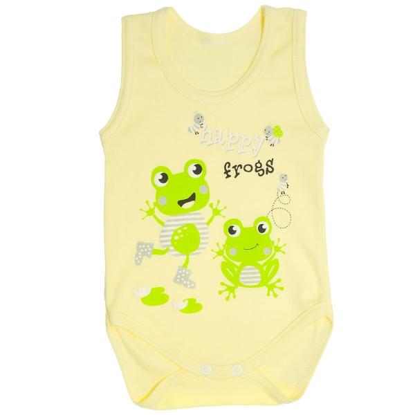 Body na ramínka Žabky - žluté