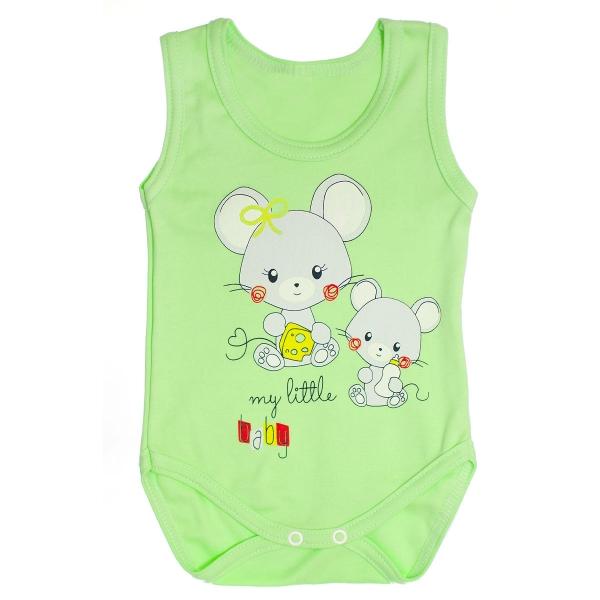 Body na ramínka Myšky - zelené
