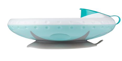 BabyOno Ohřívací talířek s přísavkou - mátová