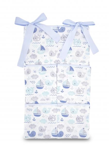 Baby Nellys  Kapsář na postýlku Oceán Baby - modrý
