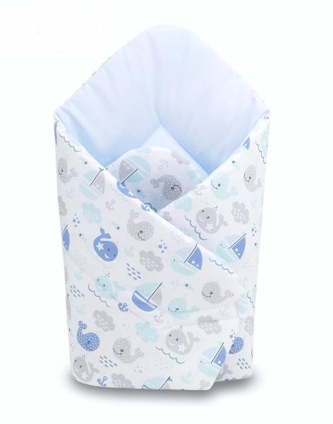 Baby Nellys  Novorozenecká zavinovačka Oceán Baby - modrá