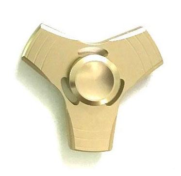 Fidget Spinner kovový - ALU antistresová hračka 5 barev, 6 cm