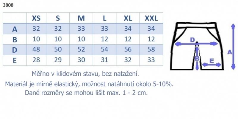 Be MaaMaa Těhotenské,bavlněné kraťasy s odpáratelným pásem - bílé, vel. S