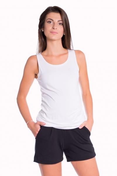 Be MaaMaa Těhotenské,bavlněné kraťasy s odpáratelným pásem - černé, vel. XL