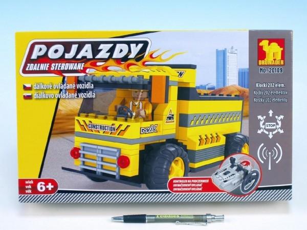 Stavebnice Dromader Auto RC stavební 20109 na vysílačku na baterie 202ks v krabici 34