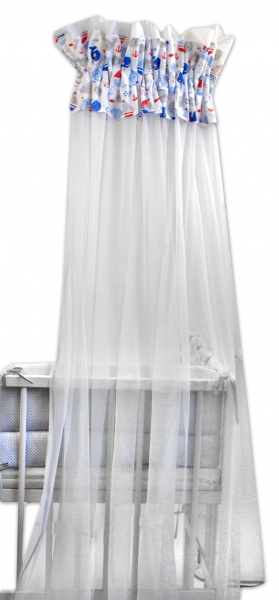 Baby Nellys Luxusní moskytiéra 170x400cm Oceán baby