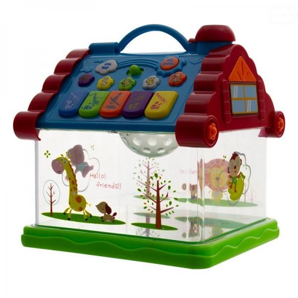Euro Baby Interaktivní hračka s melodií - Domeček