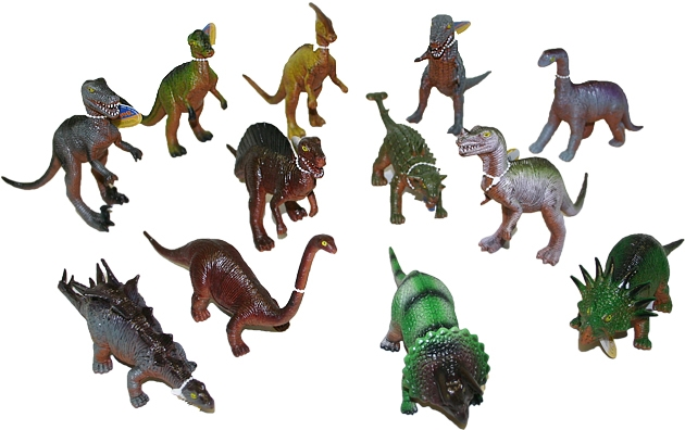 Dinosaurus 21 cm, 12 druhů