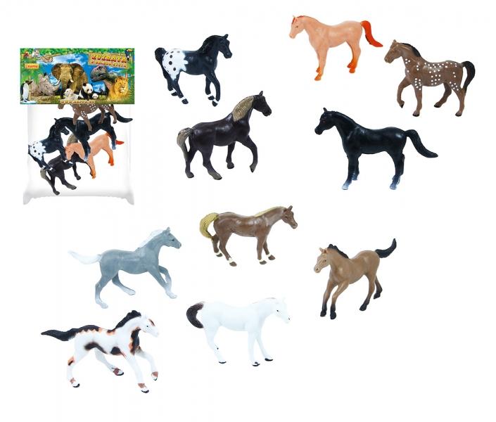 Koně, 5 ks v sáčku, 2 druhy