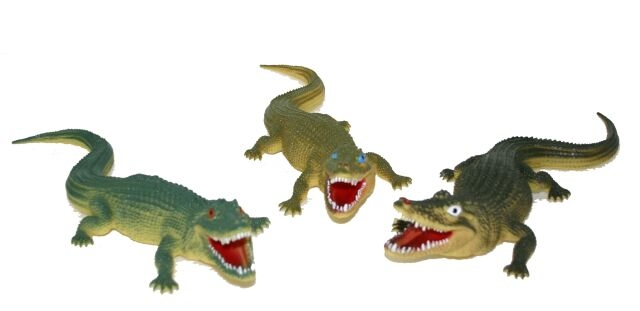 Krokodýl, 3 druhy, 38 cm