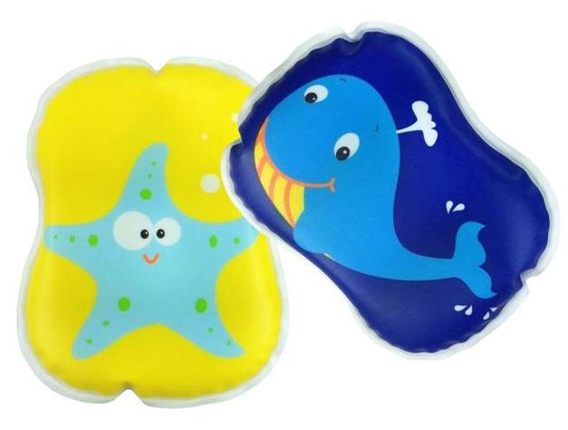 Pískácí polštářek do vody - Velryba a hvězdice
