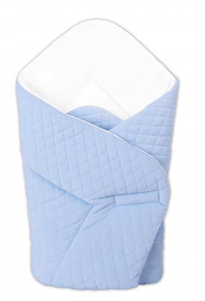 Novorozenecká zavinovačka Velvet lux Miminu prošívaná - modrá