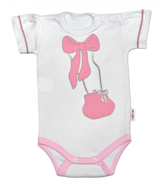 Baby Nellys Body krátký rukáv Celebrity Girl - růžové, vel. 86