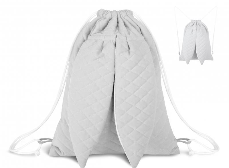 Stylový dětský batůžek Velvet lux Miminu prošívaný - šedý