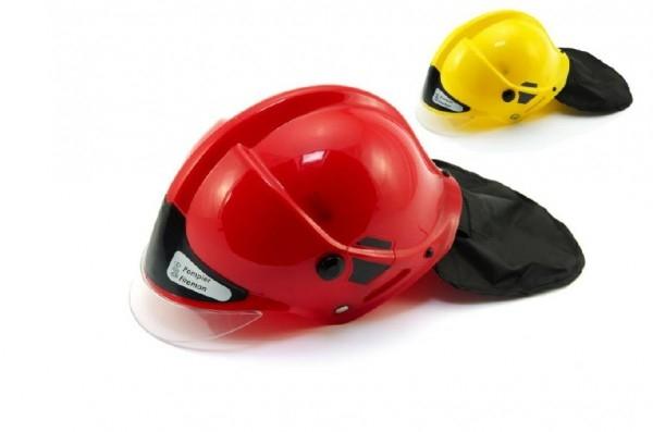 Helma přilba hasiči plast 27x16cm asst 2 barvy
