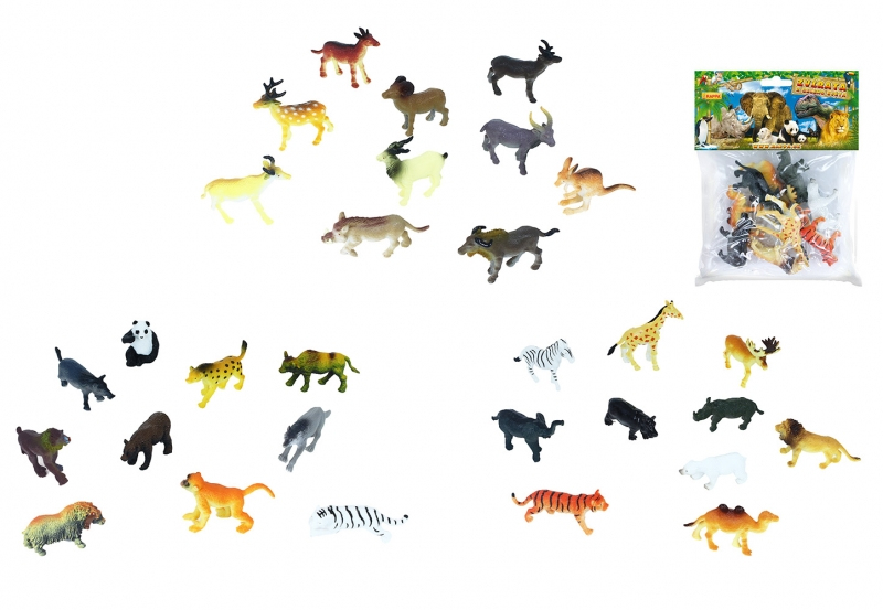 Zvířata divoká, 10 ks v sáčku, 3 druhy
